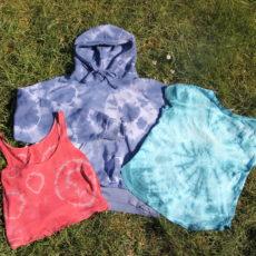 Kleidung färben mit Batik