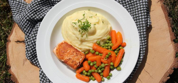 Kartoffelbrei mit Fisch & Gemüse